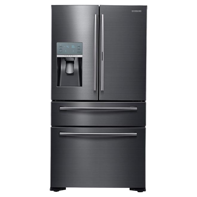 """Réfrigérateur à portes françaises 36"""", 22 pi³, acier noir"""