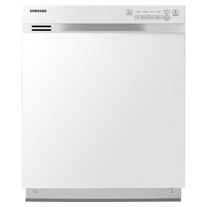 """Lave-vaisselle encastrable avec détecteur de fuite, 24"""", blanc"""