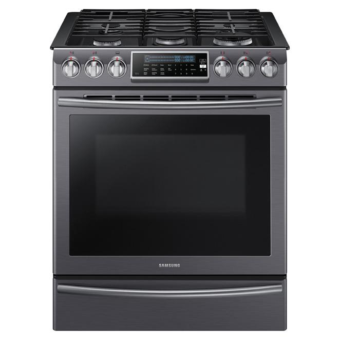 Cuisinière au gaz encastrable, 5,8 pi³, acier noir