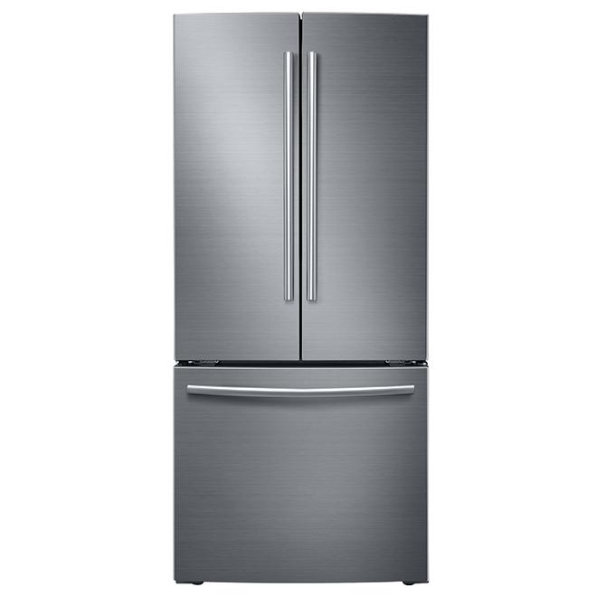 French Door, Bottom Freezer Fridge - 21.6 cu.ft. - Stainless Steel