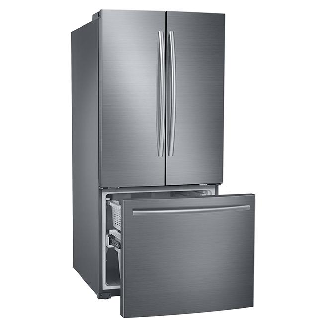 Samsung frigo portes fran aises cong lateur inf rieur 21 6 pi inox rf220dctas8 r no d p t - Frigo samsung 1 porte inox ...