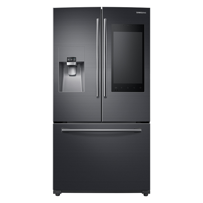 "French Door Refrigerator - 36"" - 24.2 cu. ft. - Black SS"