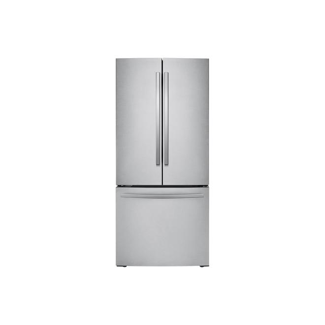 Samsung French-Door Refrigerator - 21.8 cu ft - Stainless Steel