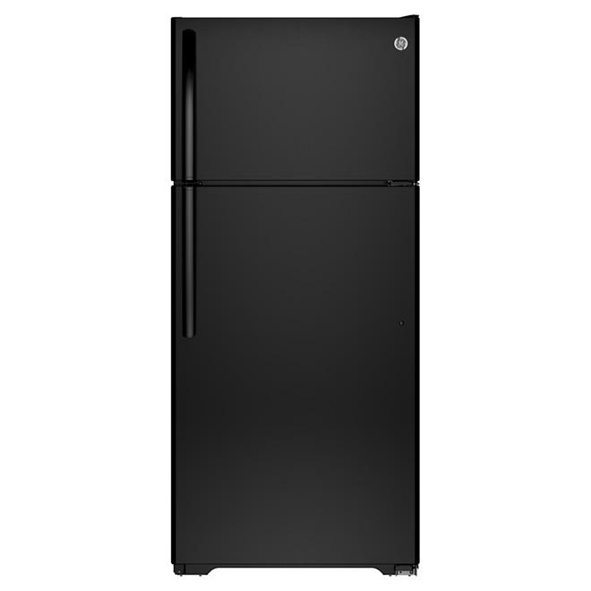 """Réfrigérateur congélateur supérieur 28"""", 15,5 pi³ noir"""