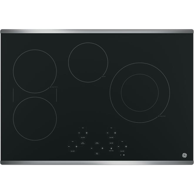 """Surface de cuisson encastrée électrique 30"""", acier inox"""
