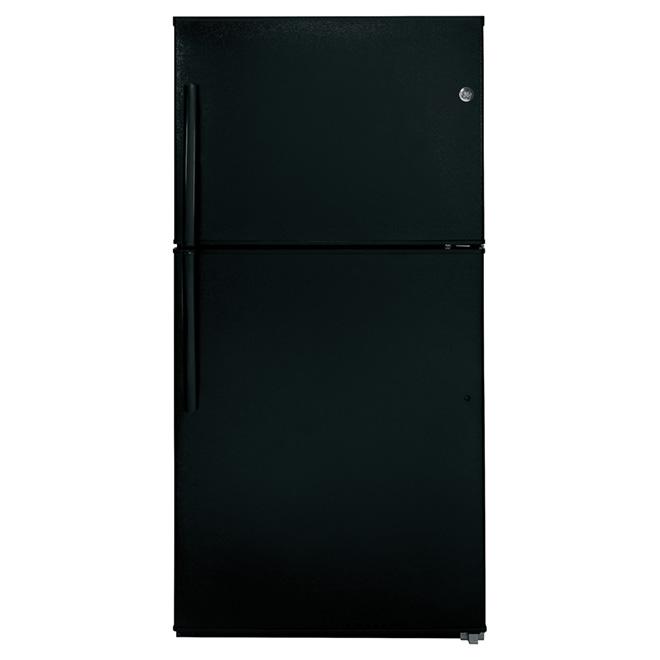 """Réfrigérateur congélateur supérieur 33"""", 21,2 pi³, noir"""