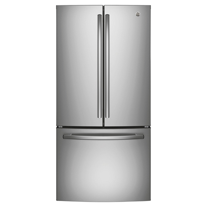 """Réfrigérateur à portes françaises 33"""", 24,8 pi³, inox"""