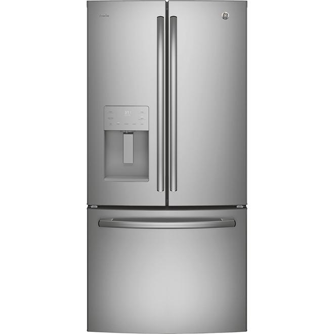 """Réfrigérateur à portes françaises 33"""", 23,8 pi³, inox"""