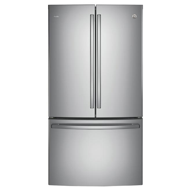 """Réfrigérateur à portes françaises 36"""", 23,1 pi³, inox"""