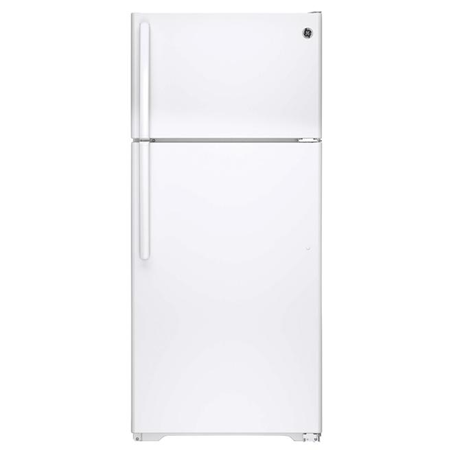 """Réfrigérateur congélateur supérieur 28"""", 15,5 pi³, blanc"""