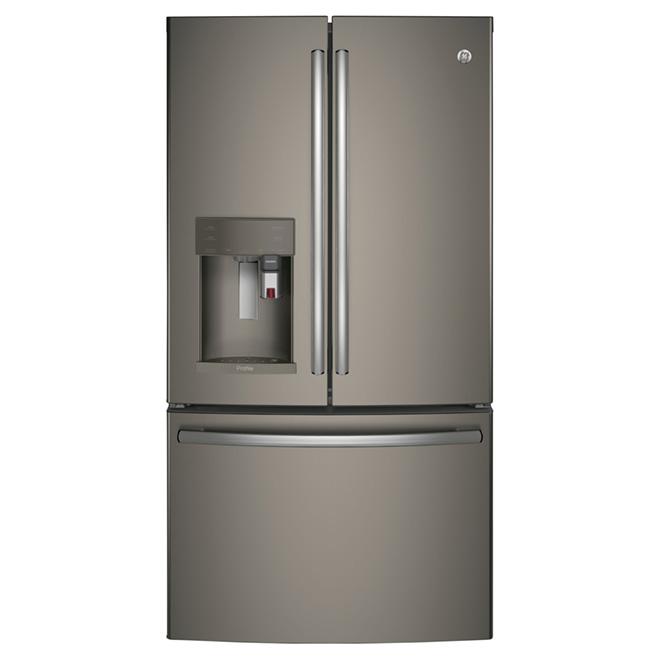 """Réfrigérateur à portes françaises 36"""", 22,2 pi³, ardoise"""