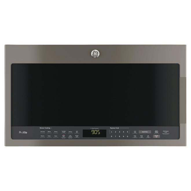 Four à micro-ondes avec Chef Connect, 2,1 pi³, ardoise