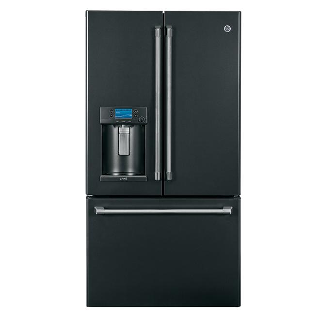 Réfrigérateur à portes françaises, 22,2pi³, ardoise noir