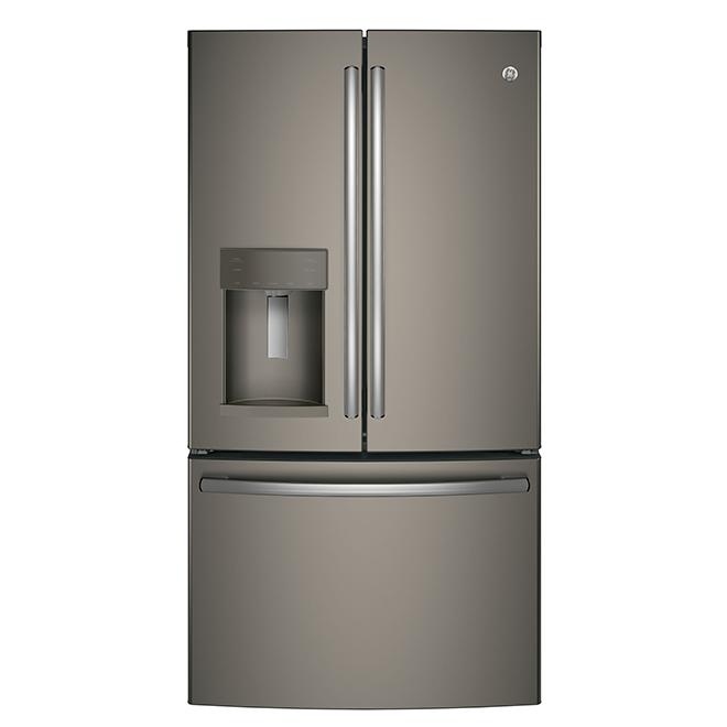 Réfrigérateur à portes françaises, 25,7 pi³, ardoise