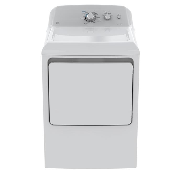 Sécheuse à gaz avec capteurs d'humidité, 7,2 pi³, blanc