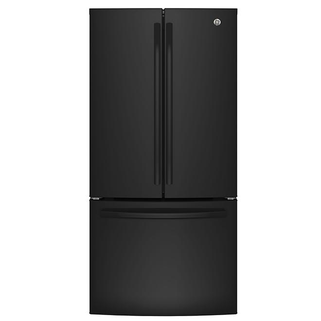 """Réfrigérateur à portes françaises 33"""", 18,6 pi³, noir"""