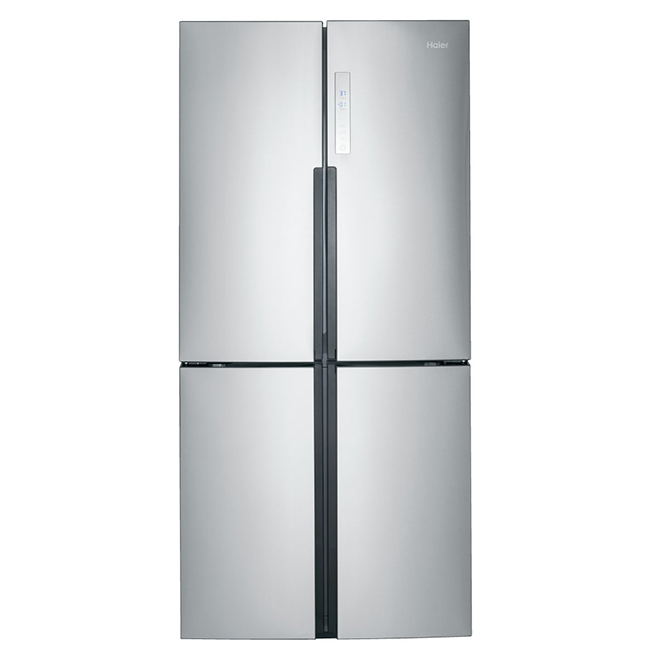 Quad-Door Refrigerator - 16.4 cu. ft. - Stainless Steel