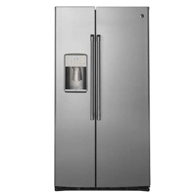 Réfrigérateur côte-à-côte, 21,9pi³, acier inoxydable