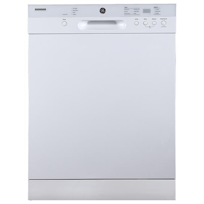 ge lave vaisselle encastr avec cleansensor 24 blanc. Black Bedroom Furniture Sets. Home Design Ideas