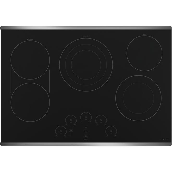Café Ceramic Glass Cooktop - 30-in - 5 Elements - Black