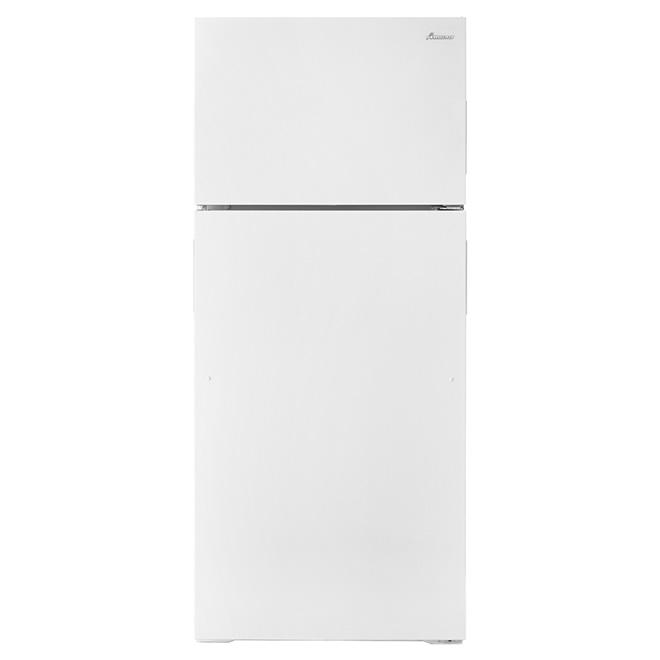 """Réfrigérateur congélateur supérieur 28"""", 16 pi³ blanc"""