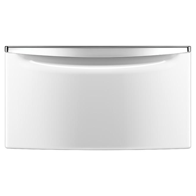 """Socle avec tiroir de rangement 27"""", blanc"""