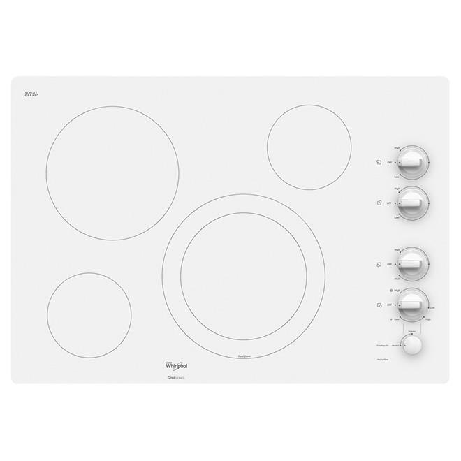 """Surface de cuisson encastrée électrique 30"""", blanc pur"""