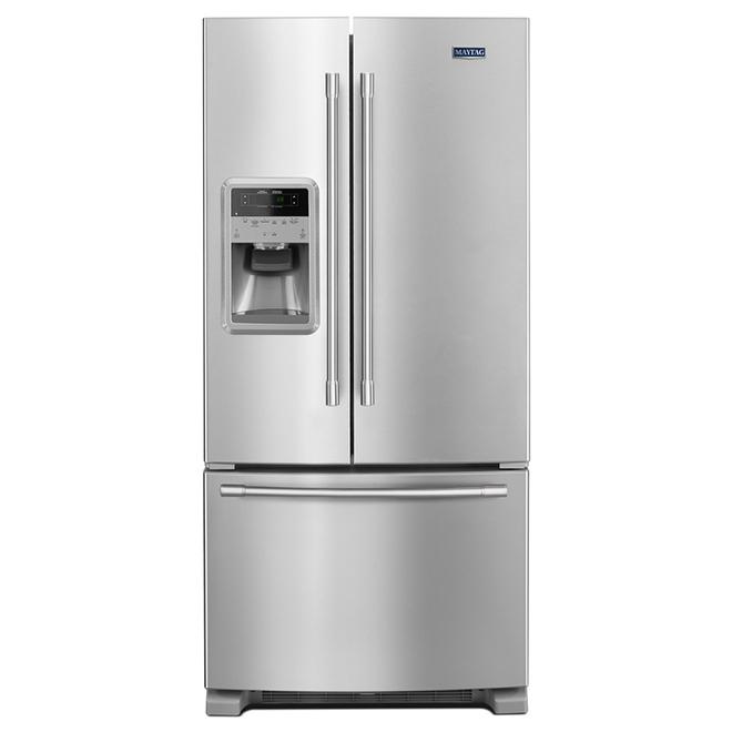 Réfrigérateur avec compartiment à boissons, 21,7 pi³, inox