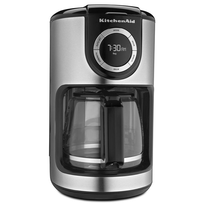 Coffee Maker - 12 Cup - Stainless Steel Black - Glass Carafe