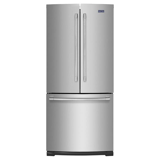 """French-Door Refrigerator - 30"""" - 19.6 cu. ft. -  Steel"""