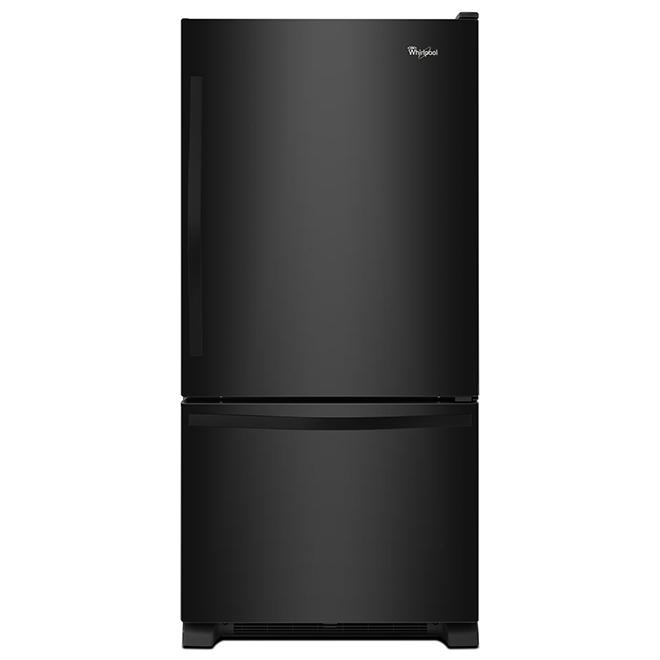 """Réfrigérateur à congélateur au bas 33"""", 22 pi³, noir"""
