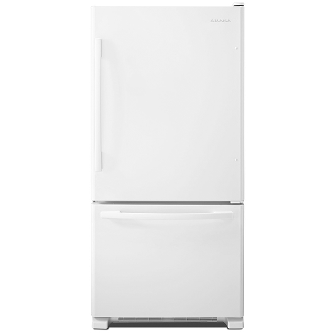 "Bottom-Freezer Refrigerator - 33"" - 22 cu. ft. - White"