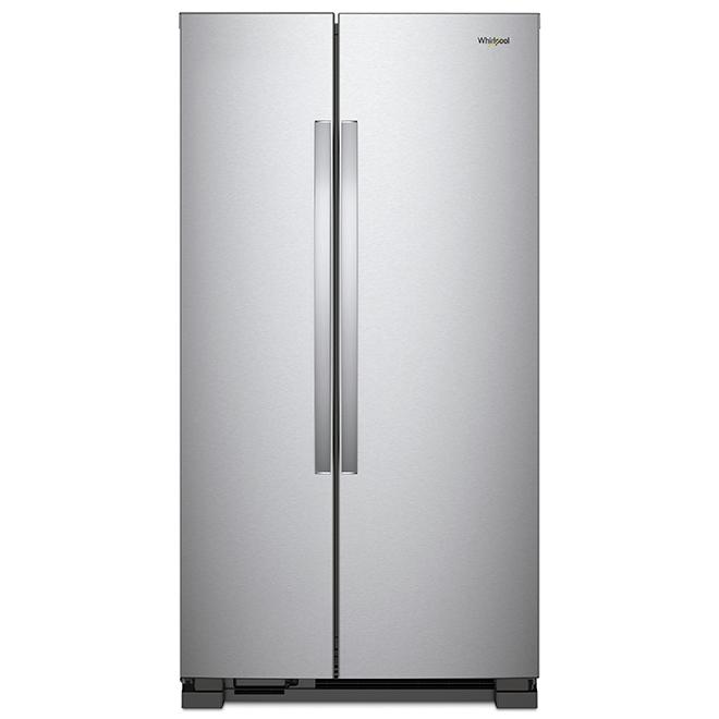 Réfrigérateur côte à côte, 22 pi³, acier inoxydable