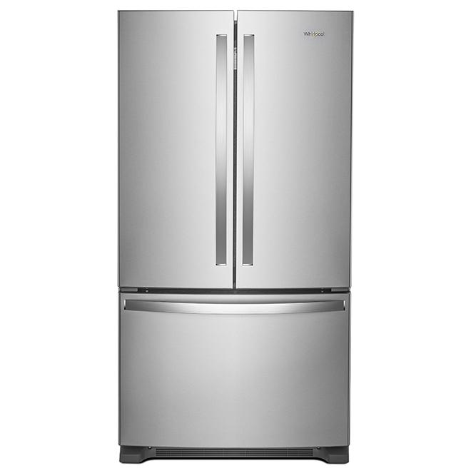 Réfrigérateur à portes françaises, 20 pi³, acier inoxydable