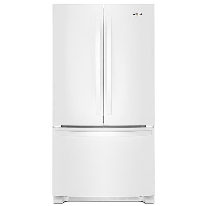 Réfrigérateur avec distributeur interne, 20 pi³, blanc