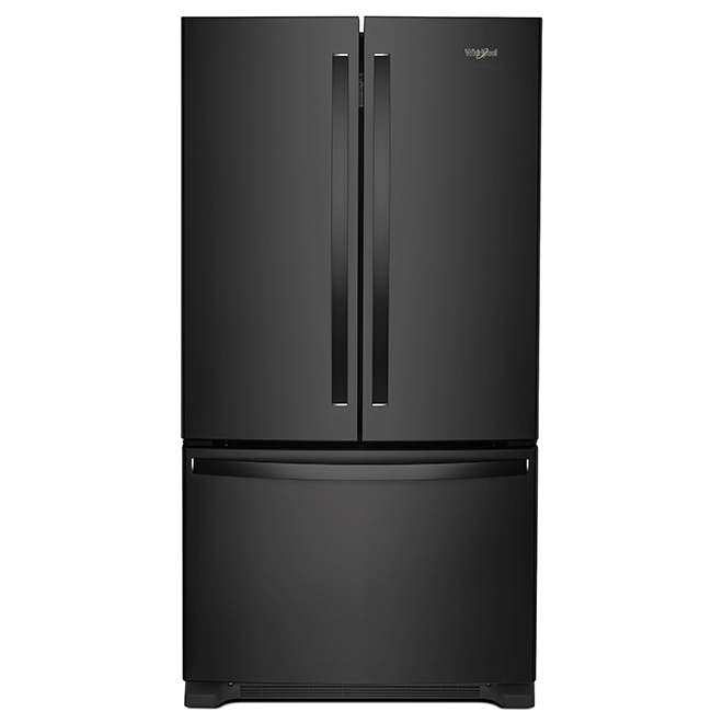 Refrigerator with Interior Dispenser - 20 cu  ft  - Black