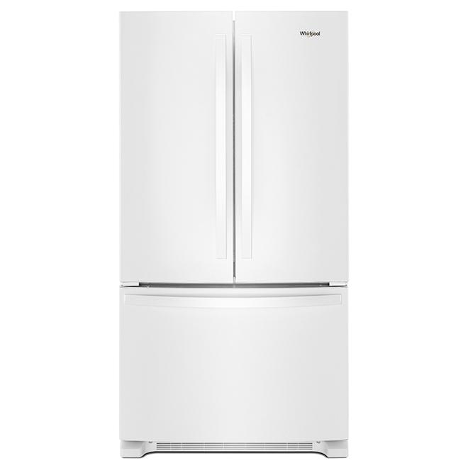 """Réfrigérateur à portes françaises, 33"""", 22 pi³, blanc"""