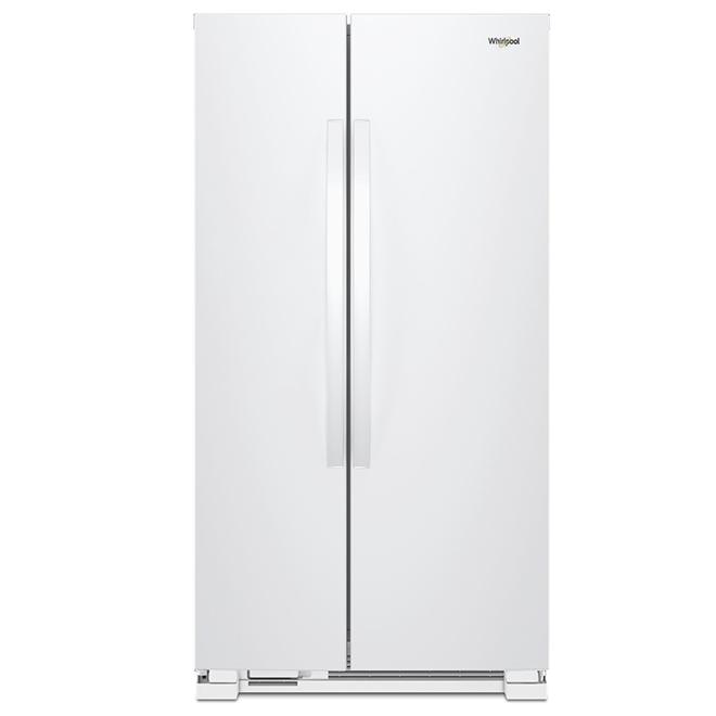 """Réfrigérateur côte-à-côte, 33"""", 22 pi³, blanc"""
