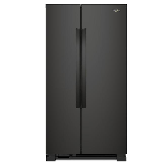 """Réfrigérateur côte-à-côte, 33"""", 21,7pi³, noir"""