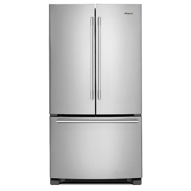"""Réfrigérateur à portes françaises, 33"""", 22 pi³, inox"""