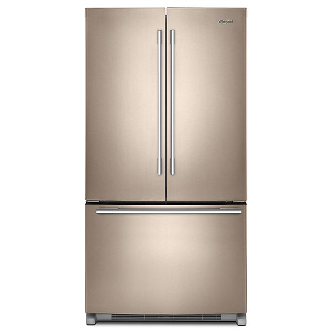 """Réfrigérateur à portes françaises, 36"""", 25 pi³, bronze"""