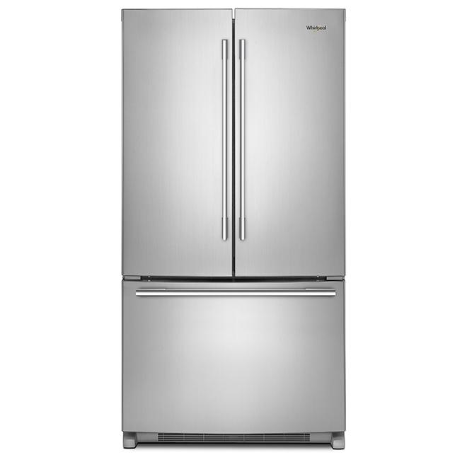 """Réfrigérateur à portes françaises, 36"""", 25 pi³, inox"""