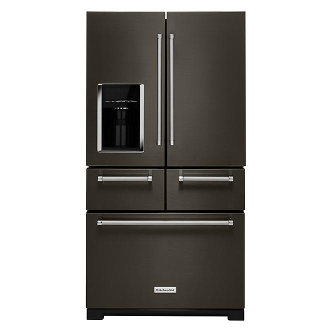 Multi-Door Refrigerator with Preserva - 25.8 cu. ft. - Black