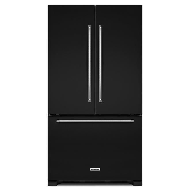 Réfrigérateur avec distributeur interne, 25 pi³, noir