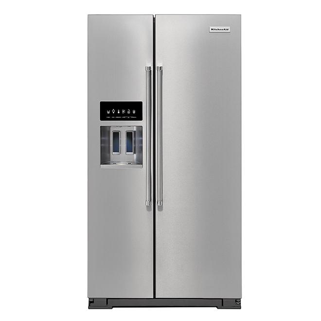 Réfrigérateur côte à côte, 24,8 pi³, acier inoxydable