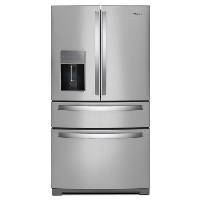 Réfrigérateur avec tiroir extérieur, 26 pi³, inox