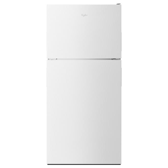 Réfrigérateur avec machine à glaçons, 18 pi³, blanc