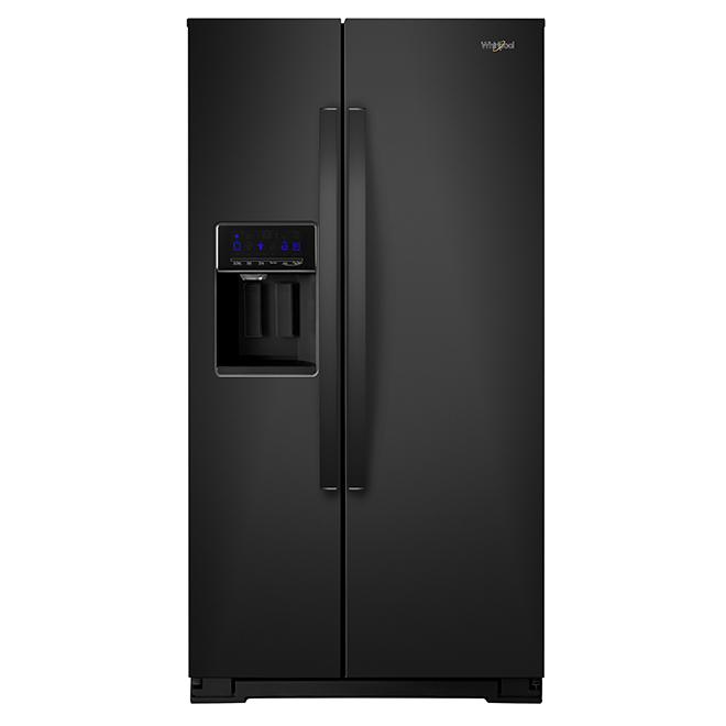 Réfrigérateur avec distributeur d'eau/glaçons, 28 pi³, noir