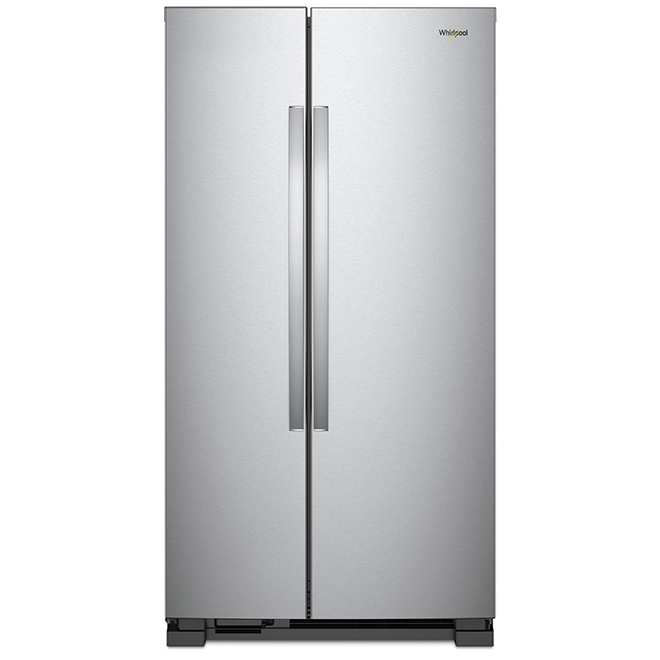 Réfrigérateur côte-à-côte, 25 pi³, inox