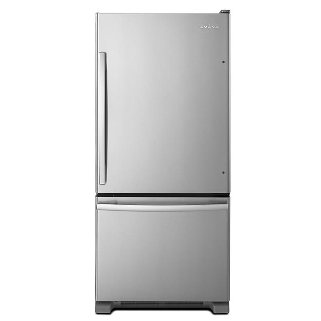 "Bottom Freezer Refrigerator - 30"" - 18.7 cu. ft. - Stainless"